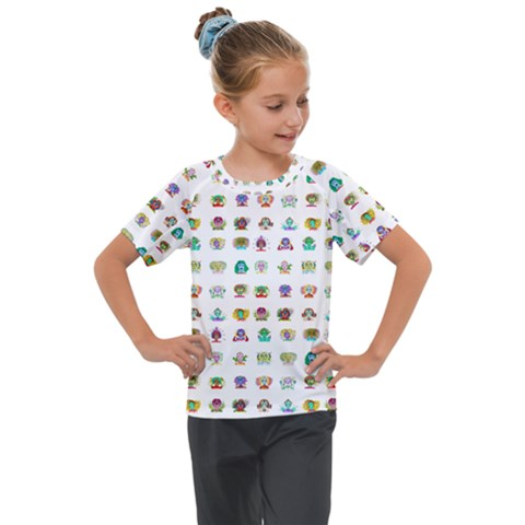 All The Aliens Teeny Kids  Mesh Piece Tee by ArtByAng