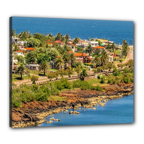 Punta Colorada Aerial Landscape Scene, Uruguay Canvas 24  X 20  (stretched)