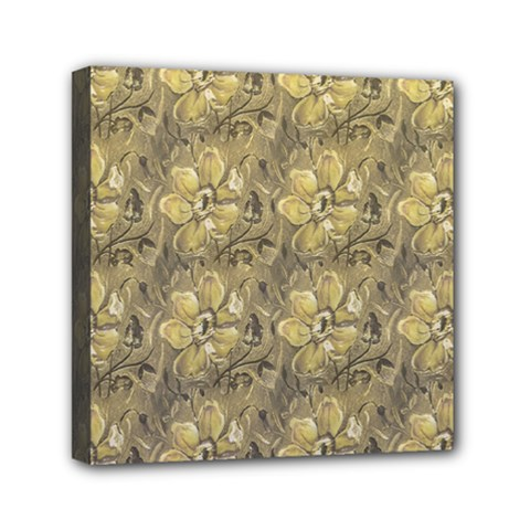 Retro Stlye Floral Decorative Print Pattern Mini Canvas 6  X 6  (stretched) by dflcprintsclothing