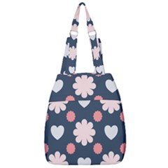 Flowers And Hearts  Center Zip Backpack