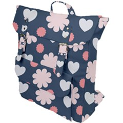 Flowers And Hearts  Buckle Up Backpack