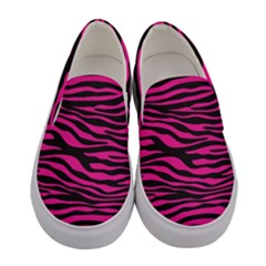 Pink Zebra Women s Canvas Slip Ons