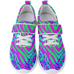Wild And Crazy Zebra Men s Velcro Strap Shoes by Angelandspot