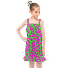 Neon Big Cat Kids  Overall Dress