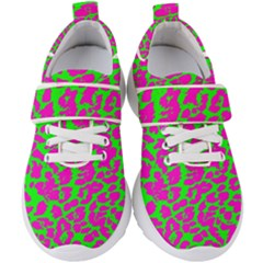 Neon Big Cat Kids  Velcro Strap Shoes
