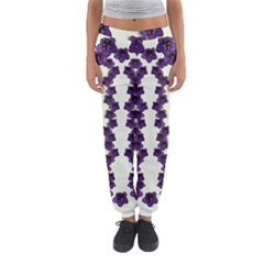 Blue Flowers Of Peace Small Of Love Women s Jogger Sweatpants