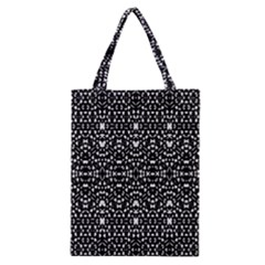 Ethnic Black And White Geometric Print Classic Tote Bag by dflcprintsclothing