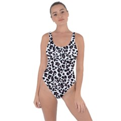 Leopard Spots, White, Brown Black, Animal Fur Print Bring Sexy Back Swimsuit