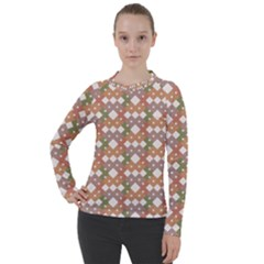 Squares And Diamonds Women s Pique Long Sleeve Tee