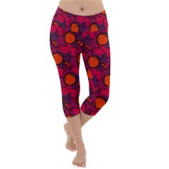 Abstract Camo Lightweight Velour Capri Yoga Leggings