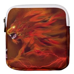 Fire Lion Flame Light Mystical Mini Square Pouch