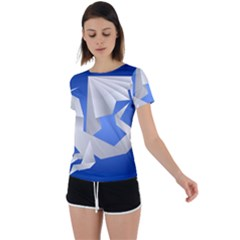 Origami Dragon Back Circle Cutout Sports Tee by HermanTelo