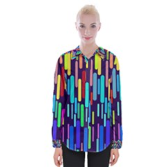 Abstract Line Womens Long Sleeve Shirt
