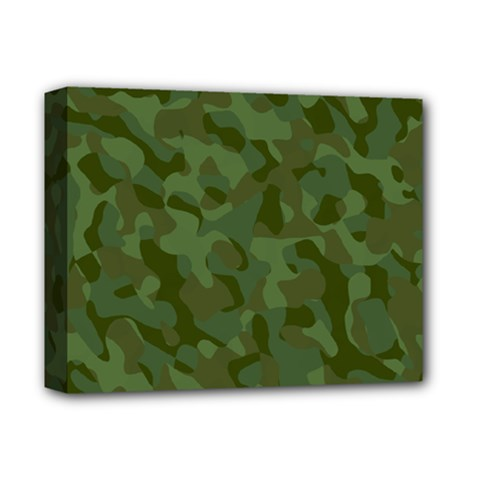 Green Army Camouflage Pattern Deluxe Canvas 14  X 11  (stretched)