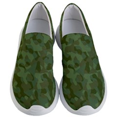 Green Army Camouflage Pattern Women s Lightweight Slip Ons by SpinnyChairDesigns