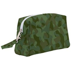 Green Army Camouflage Pattern Wristlet Pouch Bag (large) by SpinnyChairDesigns