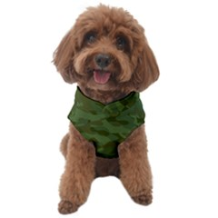 Green Army Camouflage Pattern Dog Sweater by SpinnyChairDesigns