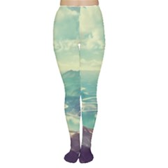 Landscape Mountains Lake River Tights