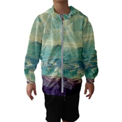 Landscape Mountains Lake River Kids  Hooded Windbreaker