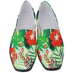 Tropical Leaf Flower Digital Women s Classic Loafer Heels by Mariart