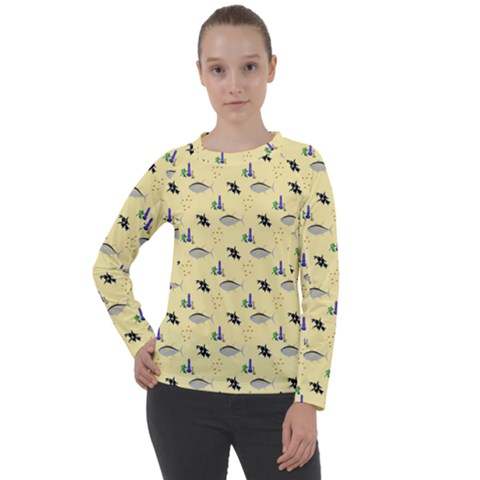 Bluefishes Women s Long Sleeve Raglan Tee by Sparkle
