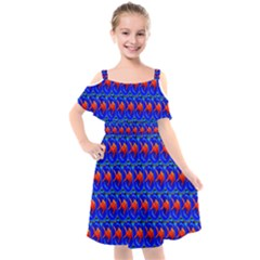 Bluefishes Kids  Cut Out Shoulders Chiffon Dress