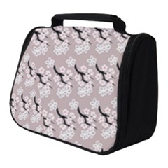 Pink Floral Full Print Travel Pouch (small) by Sparkle