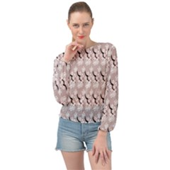 Pink Floral Banded Bottom Chiffon Top by Sparkle