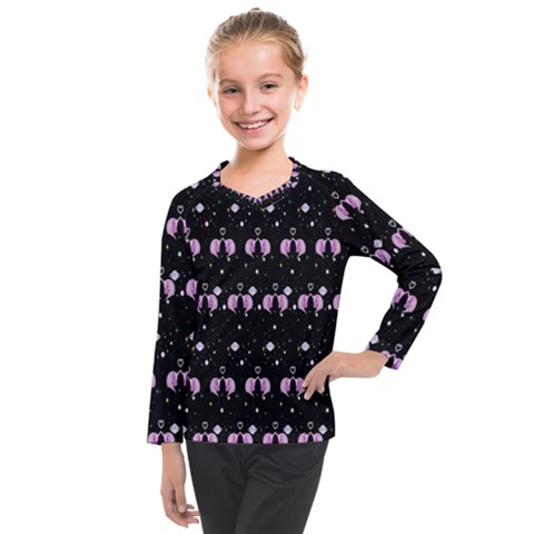 Galaxy Unicorns Kids  Long Mesh Tee by Sparkle