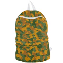 Green And Orange Camouflage Pattern Foldable Lightweight Backpack by SpinnyChairDesigns