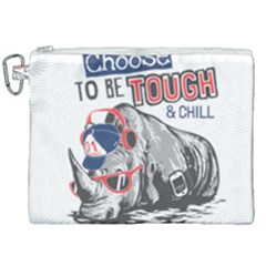 Choose To Be Tough & Chill Canvas Cosmetic Bag (xxl)