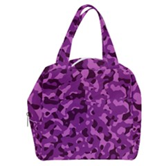 Dark Purple Camouflage Pattern Boxy Hand Bag by SpinnyChairDesigns