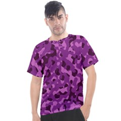Dark Purple Camouflage Pattern Men s Sport Top by SpinnyChairDesigns