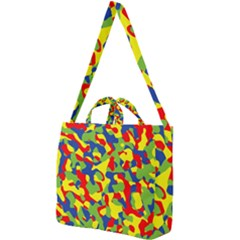 Colorful Rainbow Camouflage Pattern Square Shoulder Tote Bag