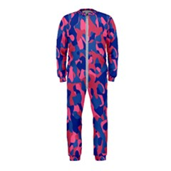 Blue And Pink Camouflage Pattern Onepiece Jumpsuit (kids) by SpinnyChairDesigns