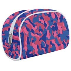 Blue And Pink Camouflage Pattern Makeup Case (medium) by SpinnyChairDesigns