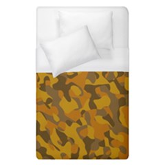 Brown And Orange Camouflage Duvet Cover (single Size) by SpinnyChairDesigns