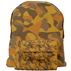 Brown And Orange Camouflage Giant Full Print Backpack by SpinnyChairDesigns