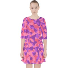 Pink And Purple Camouflage Pocket Dress by SpinnyChairDesigns