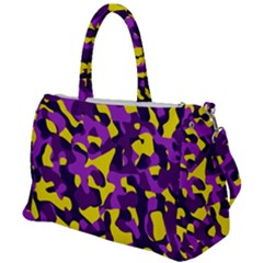 Purple And Yellow Camouflage Pattern Duffel Travel Bag