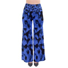 Black And Blue Camouflage Pattern So Vintage Palazzo Pants
