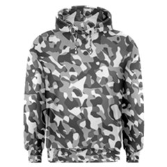 Grey And White Camouflage Pattern Men s Overhead Hoodie