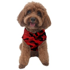 Red And Black Camouflage Pattern Dog Sweater by SpinnyChairDesigns