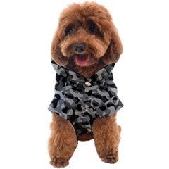 Grey And Black Camouflage Pattern Dog Coat by SpinnyChairDesigns