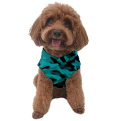 Black And Teal Camouflage Pattern Dog Sweater
