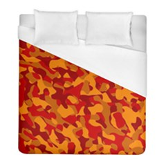 Red And Orange Camouflage Pattern Duvet Cover (full/ Double Size)