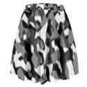 Black and White Camouflage Pattern High Waist Skirt View2