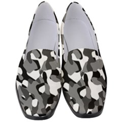 Black And White Camouflage Pattern Women s Classic Loafer Heels