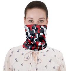 Black Red White Camouflage Pattern Face Covering Bandana (adult)