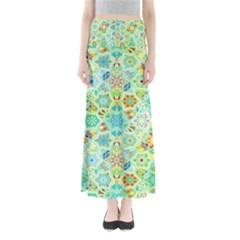 Bright Mosaic Full Length Maxi Skirt